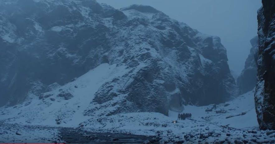 Stakkholtsgjá山谷在剧中的样子