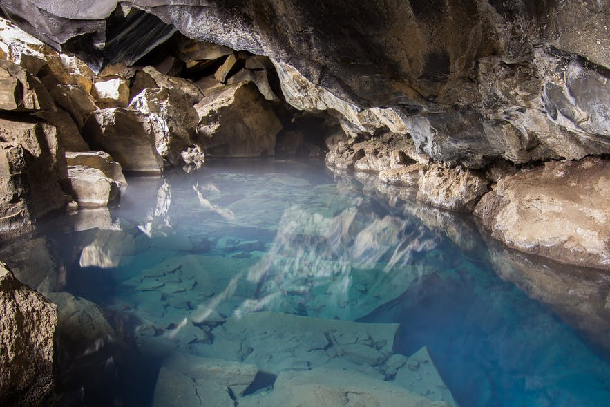 Grjótagjá cave at its finest.