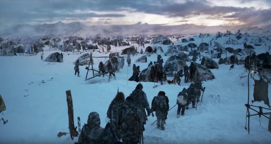 딤무보르기르에서 촬영한 맨스라이더의 캠프 장면