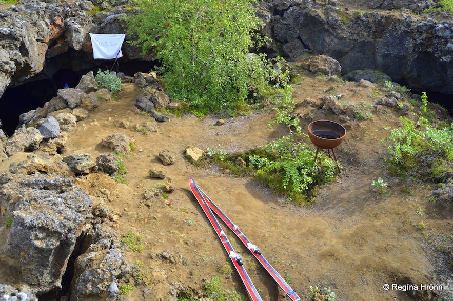 Jólasveinahellirinn - the Cave of the Yule Lads in Dimmuborgir North-Iceland