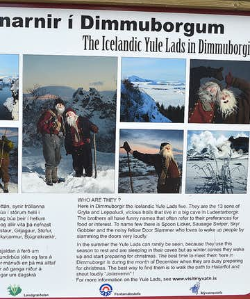The Icelandic Yule Lads live at Dimmuborgir in North-Iceland!