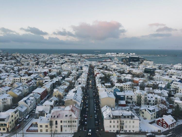 The panoramic views from Hallgrímskirkja church will take your breath away!