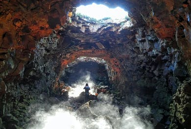 The Raufarhólshellir Lava Tunnel & the Golden Circle
