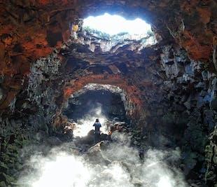 Tunel lawowy Raufarhólshellir i Złoty Krąg