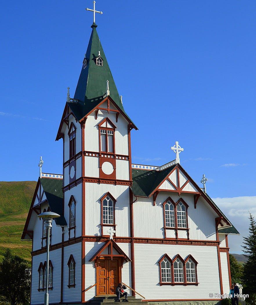 Húsavíkurkirkja church at Húsavík N-Iceland