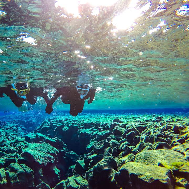 Minibus-Tour zum Golden Circle & Schnorcheln in Silfra   Gratis Unterwasser-Fotos