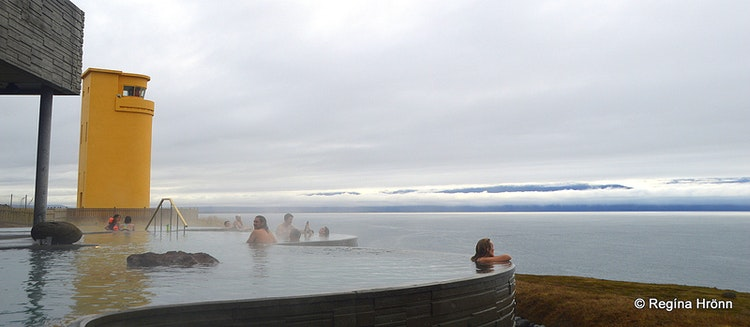 Soaking in the Geosea Geothermal Sea baths in Húsavík