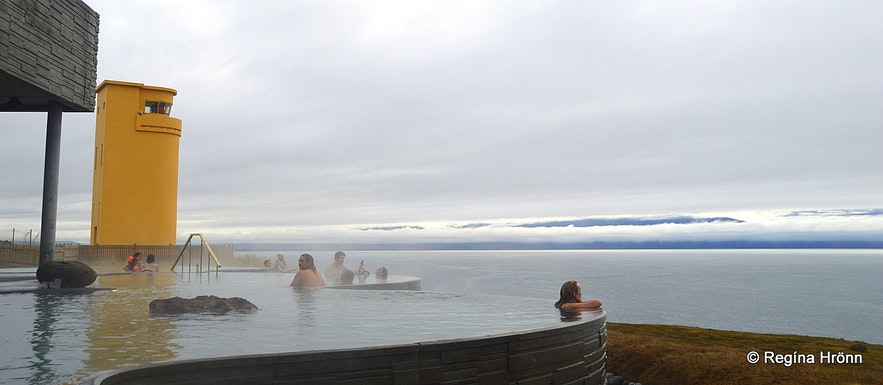 Regína in Geosea geothermal sea baths in Húsavík
