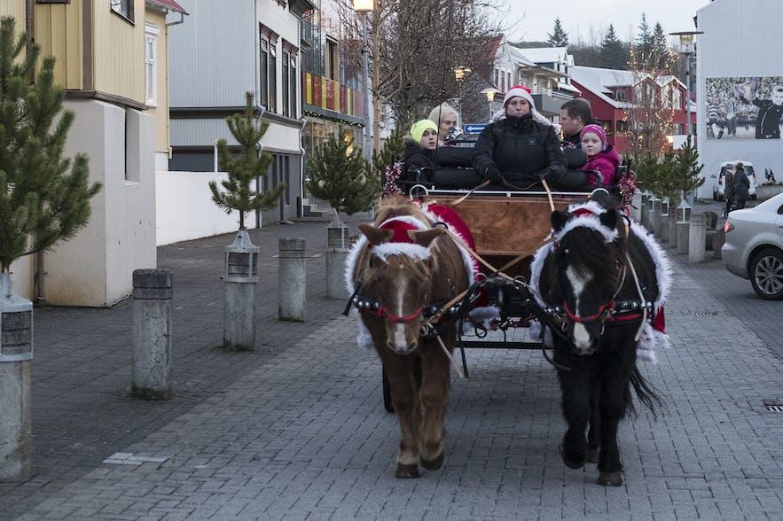 Weihnachtsdorf in Hafnarfjordur