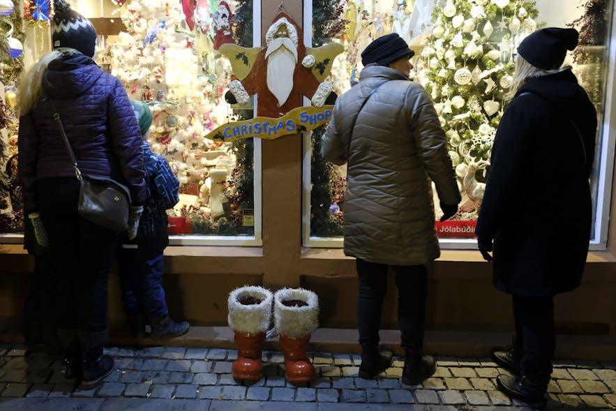 Christmas-Shop am Laugarvegur in Reykjavik