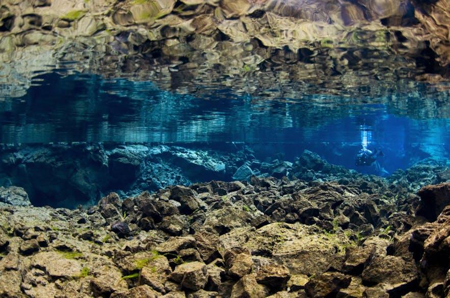 De Silfra-kloof is een van de grootste trekpleisters in dit nationale park.