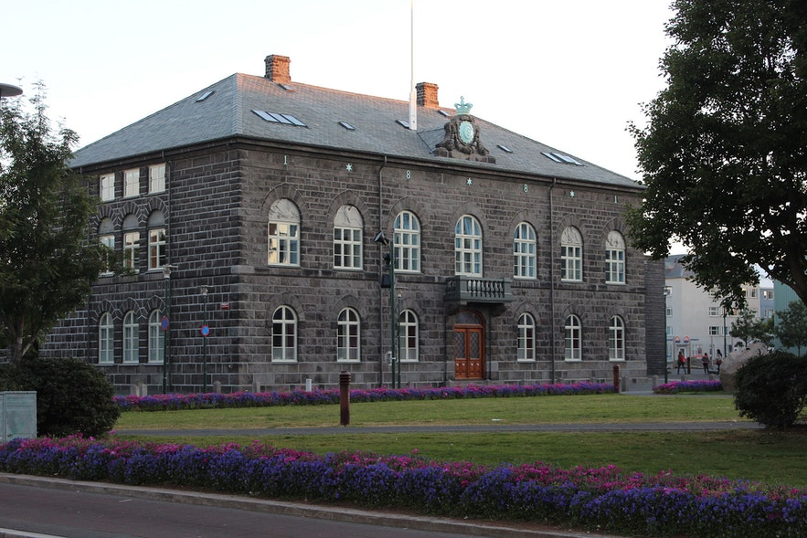 Parlementsgebouw in Reykjavík
