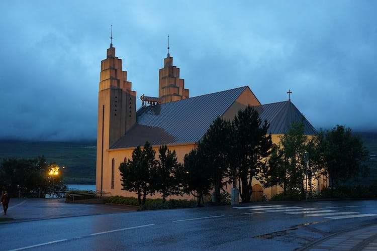 The iconic church as Akureyri was consecrated in 1940.