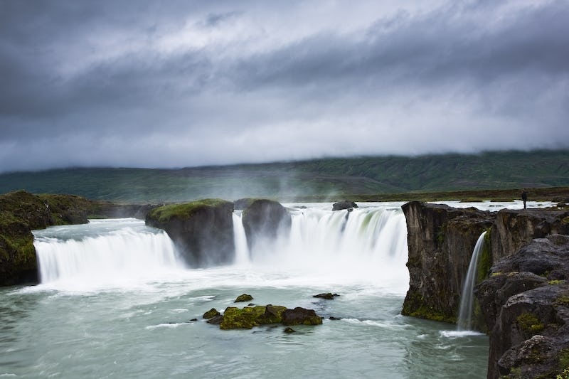 Goðafoss, 'The Waterfall of the Gods', is one of the key attractions of the Diamond Circle Sightseeing Route.