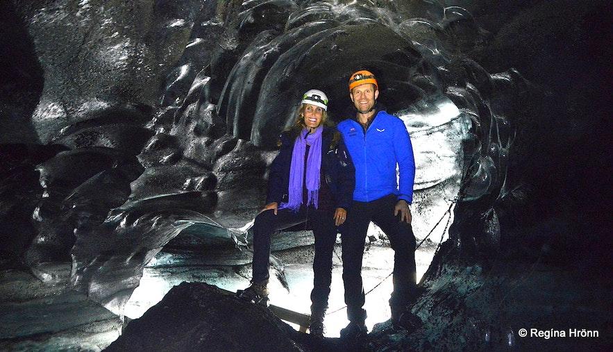 Regína Inside theKatla ice cave
