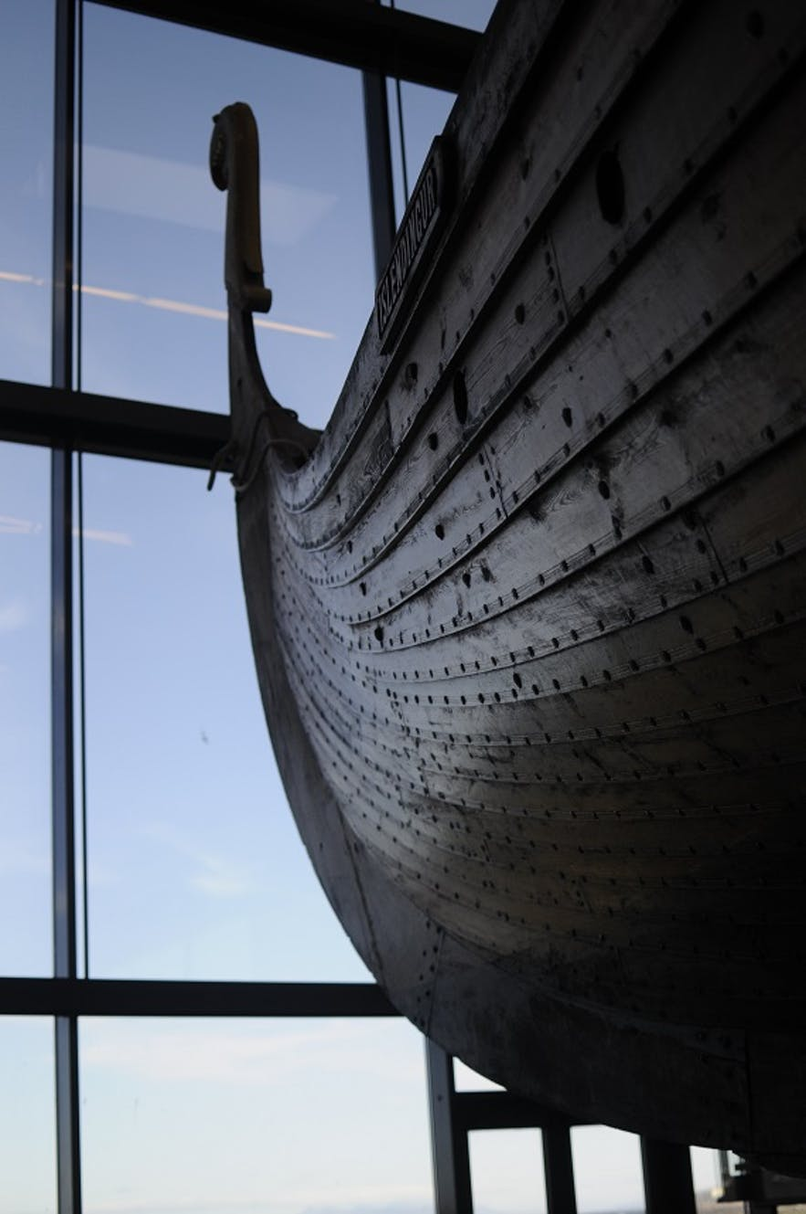 A Viking ship from Viking World, in Keflavik.
