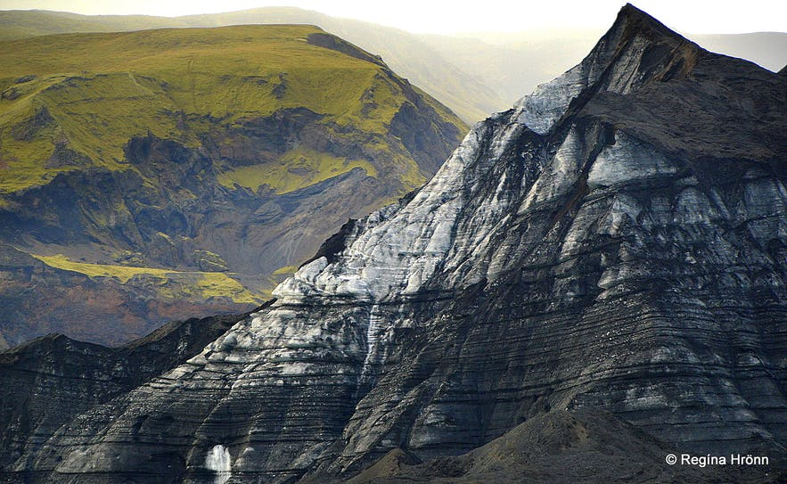 Driving towards the Katla ice cave