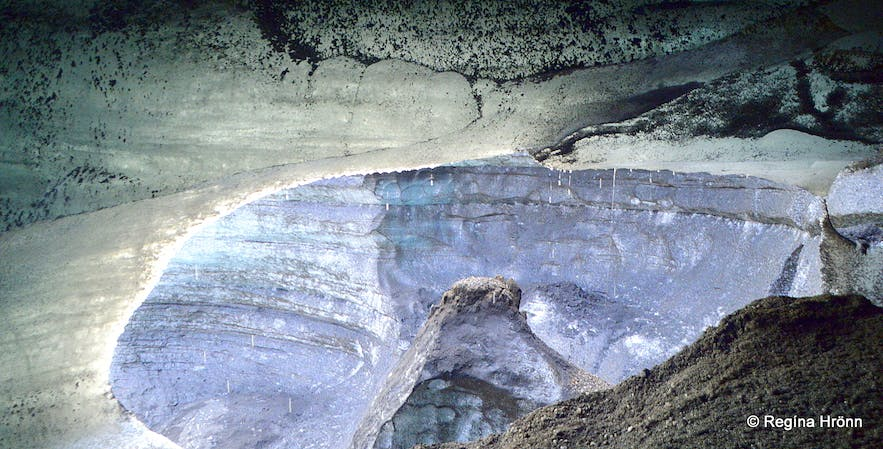 Inside the Katla ice cave