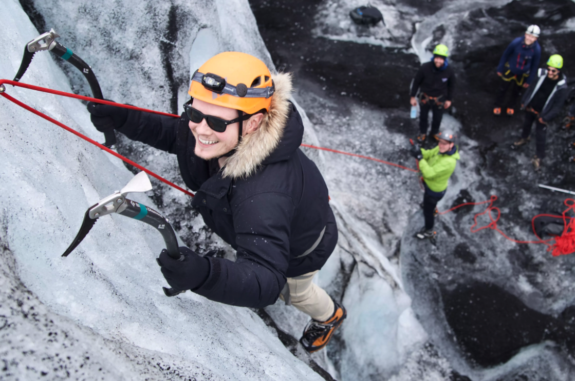 Ice climbing is a unique experience you can enjoy in Iceland
