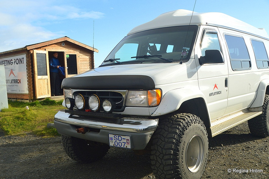 The super jeep for Katla ice cave South-Iceland