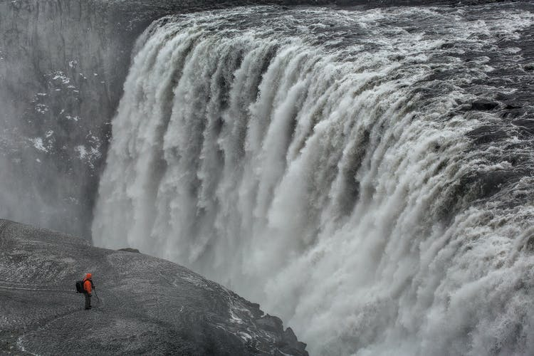 Dettifoss has the most powerful flow rate of any waterfall in Europe.