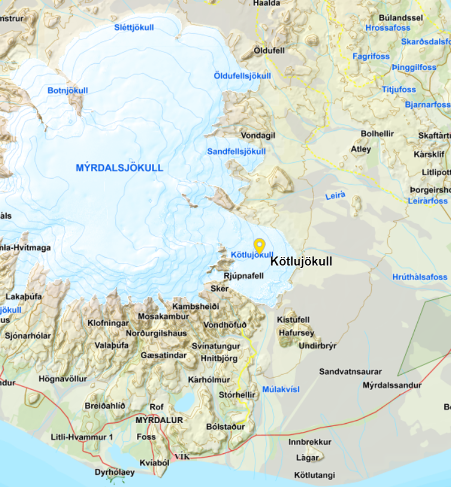 Katla Volcano and Kötlutangi Spit - the Southernmost Point of the Mainland of Iceland