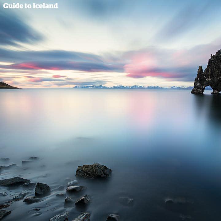冰岛北部小众景区超级吉普团|犀牛石Hvítserkur+火山口+峡谷+天然堡垒