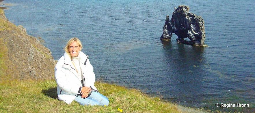 Regína and Hvítserkur monolith