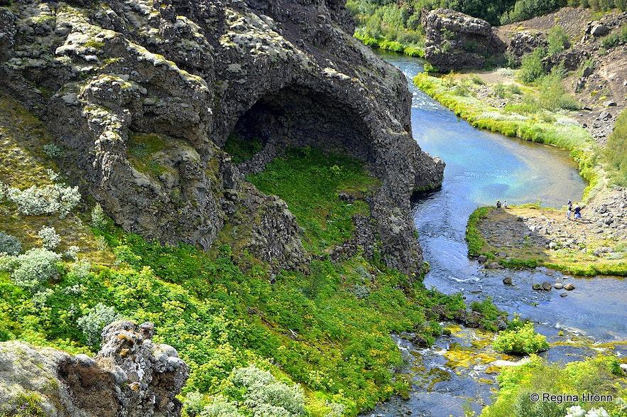 Gjáin Þjórsárdalur valley