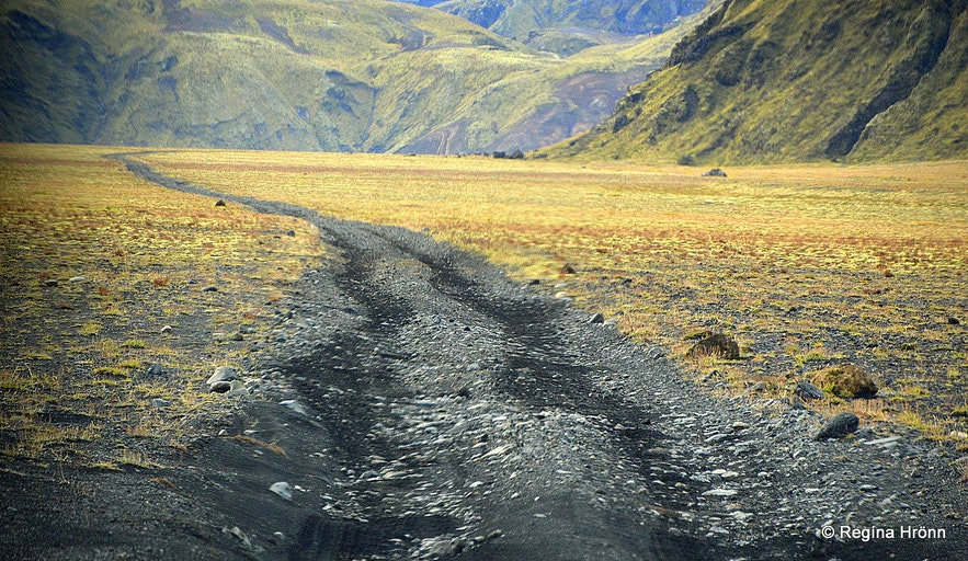 The track leading to the Katla ice cave South-Iceland