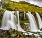 Charming Gluggafoss makes its way down the cliffside in South Iceland
