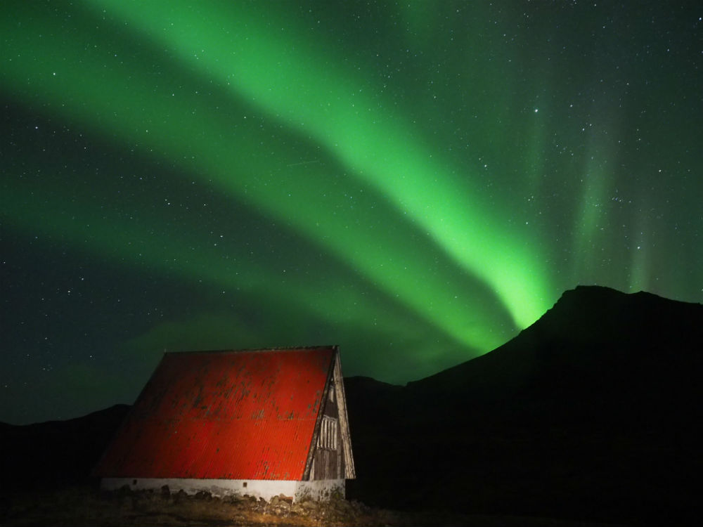 A hut and the Northern Lights