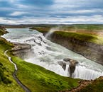 Magnificent Gullfoss makes its roaring way down the river