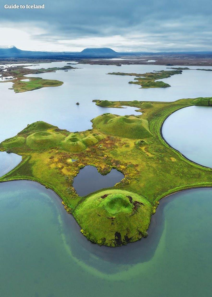 The unique Phenomenon Pseudocraters in Iceland