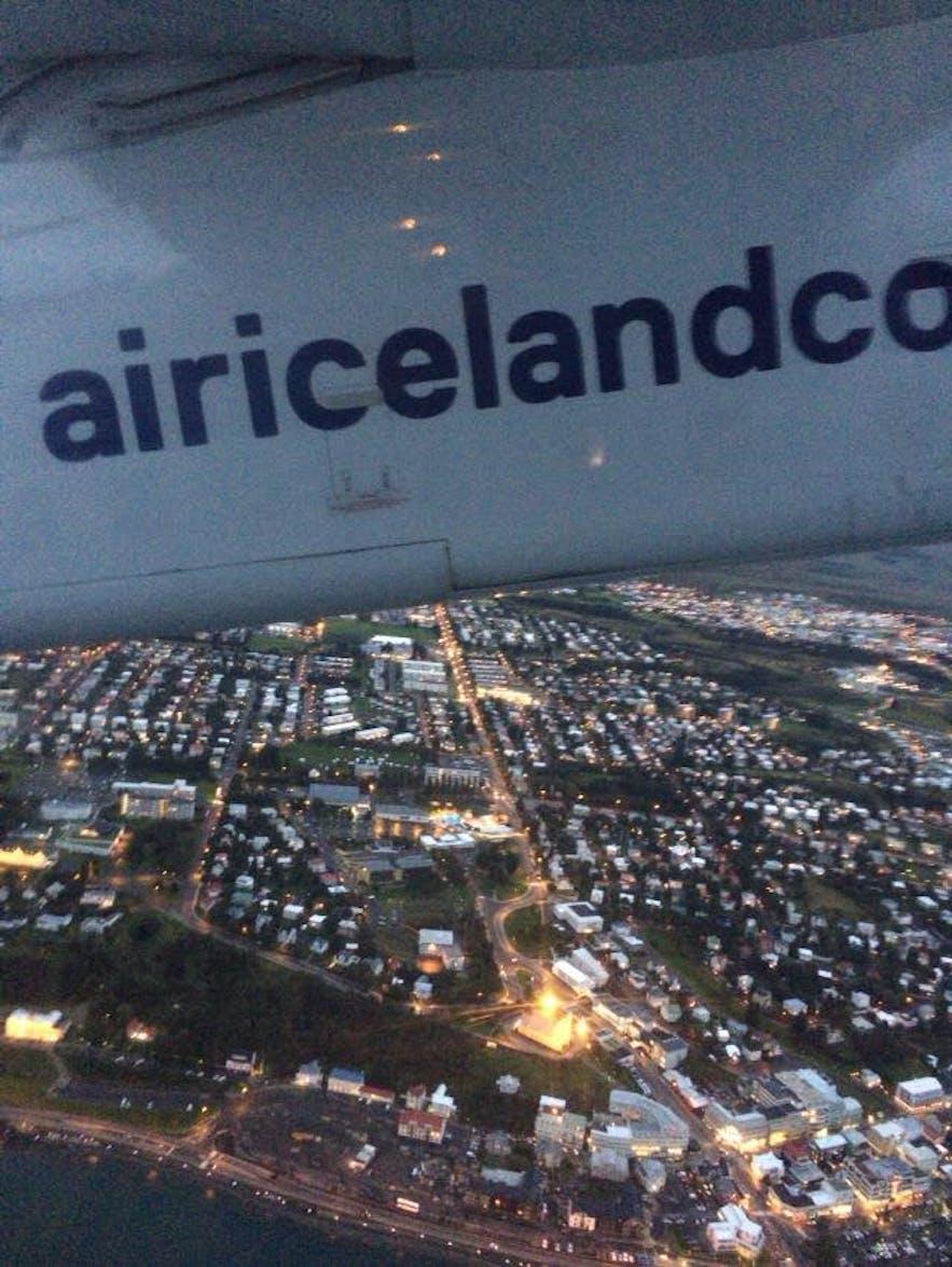 レイキャビク行きの飛行機から撮った写真