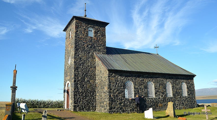 The historical Þingeyrakirkja Church in North-Iceland - one of Iceland's most beautiful Churches