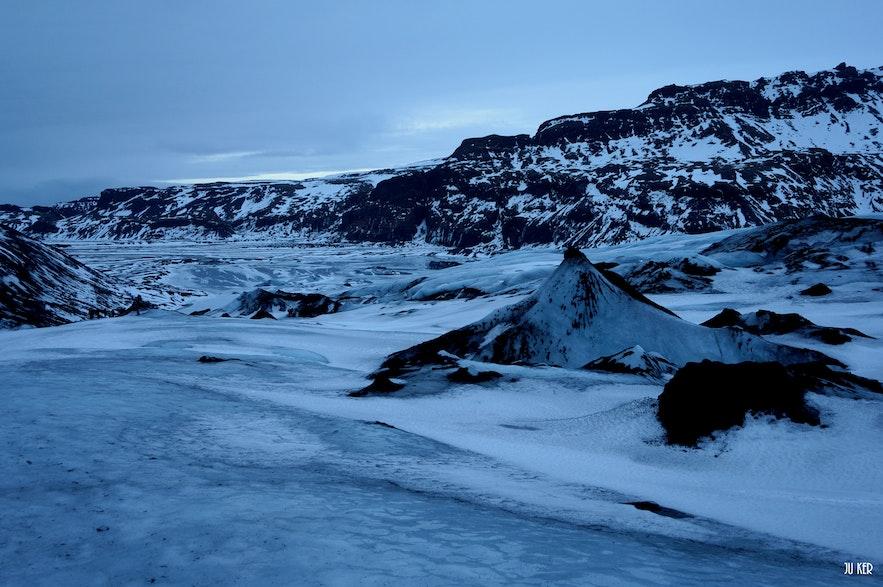 vue d'un glacier en Islande