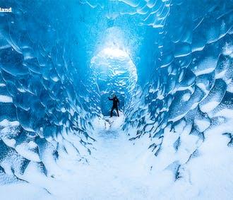 Grotte de glace bleue sapphire | Visite en petit groupe depuis Jokulsarlon