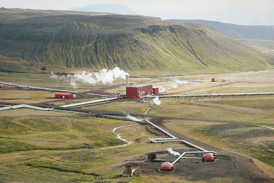 冰岛北部的克拉夫拉发电站