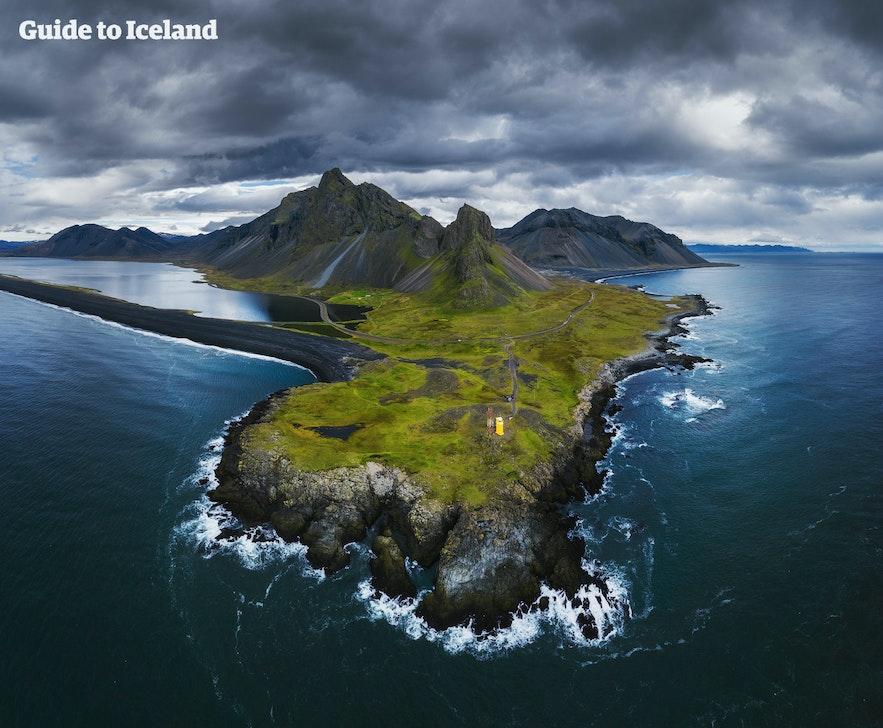 冰岛东南部的东角山Eystrahorn