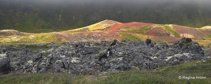 Rauðhólar pseudocraters in Laxárdalur valley in North-Iceland