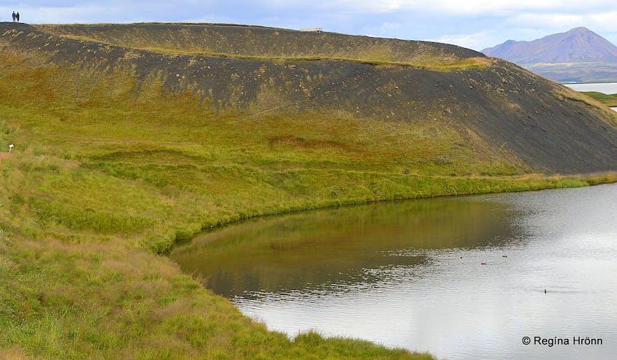 Skútustaðir pseudo craters in the Mývatn area in northeast Iceland