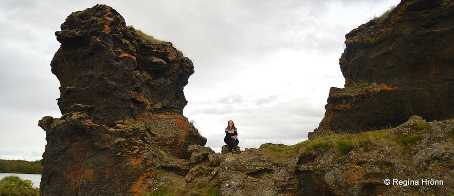 Lava pillars by Lake Mývatn