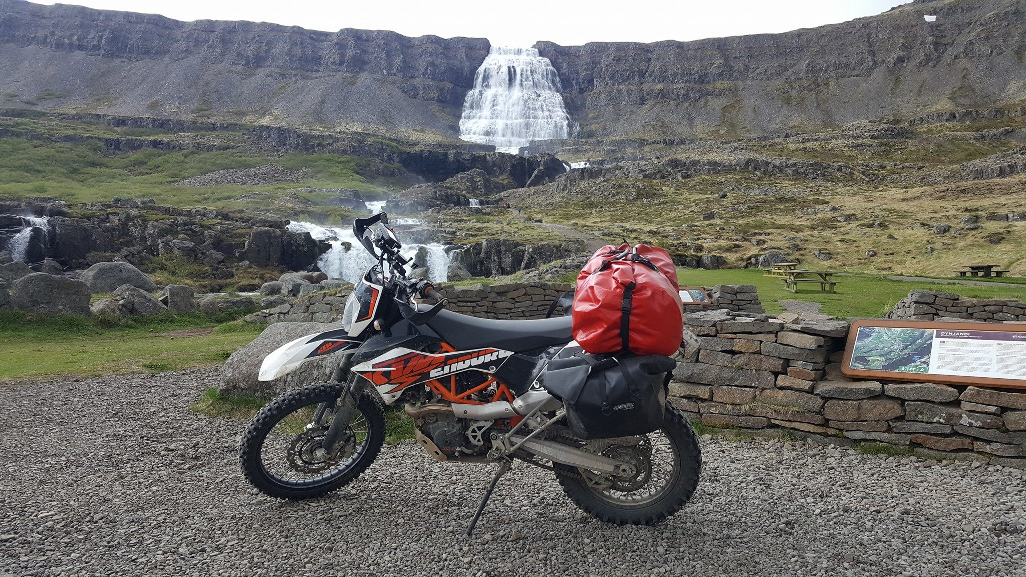 Dynjandi waterfall gets it's name - the Thunderer - from the loud roar that echoes in the narrow fjord.