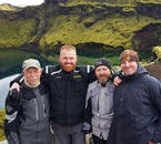On location in a highland crater with the guides.
