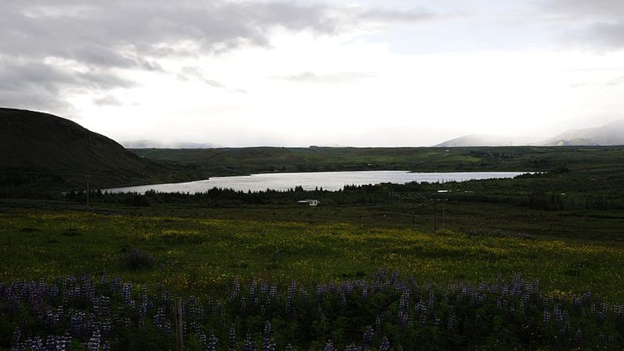 Hafravatn is a lake by the capital city of Iceland.