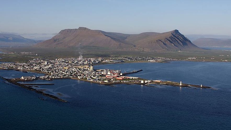 Akranes is a port town in east Iceland.