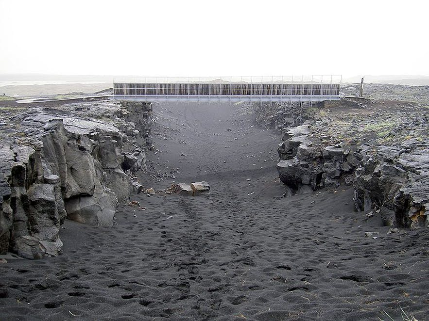 The Bridge Between the Continents is located on the Reykjanes Peninsula.