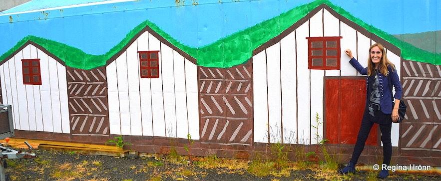 Regína at Hauganes village N-Iceland