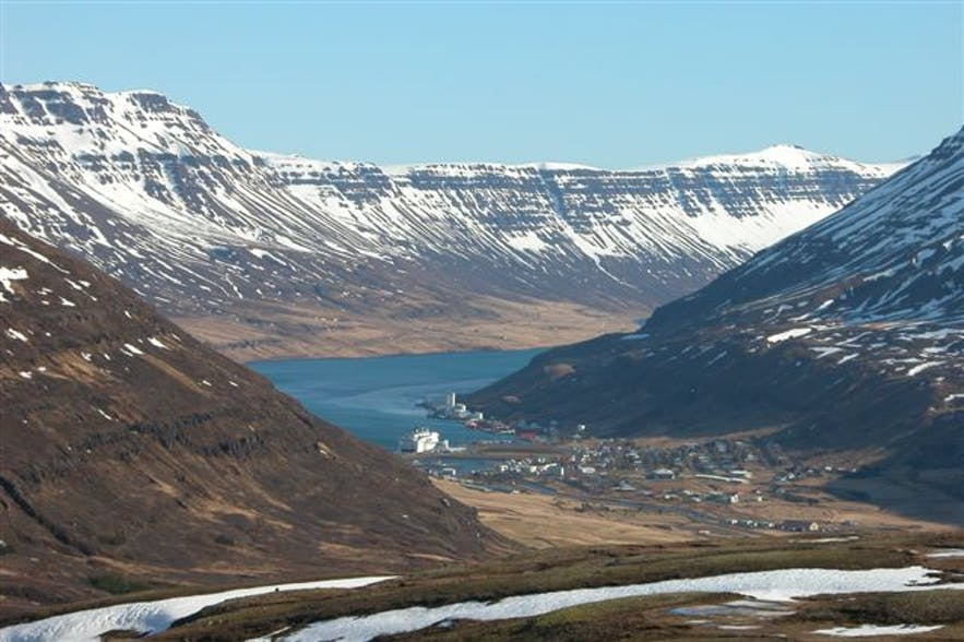 Seydisfjörður is in east Iceland, and a beautiful town.